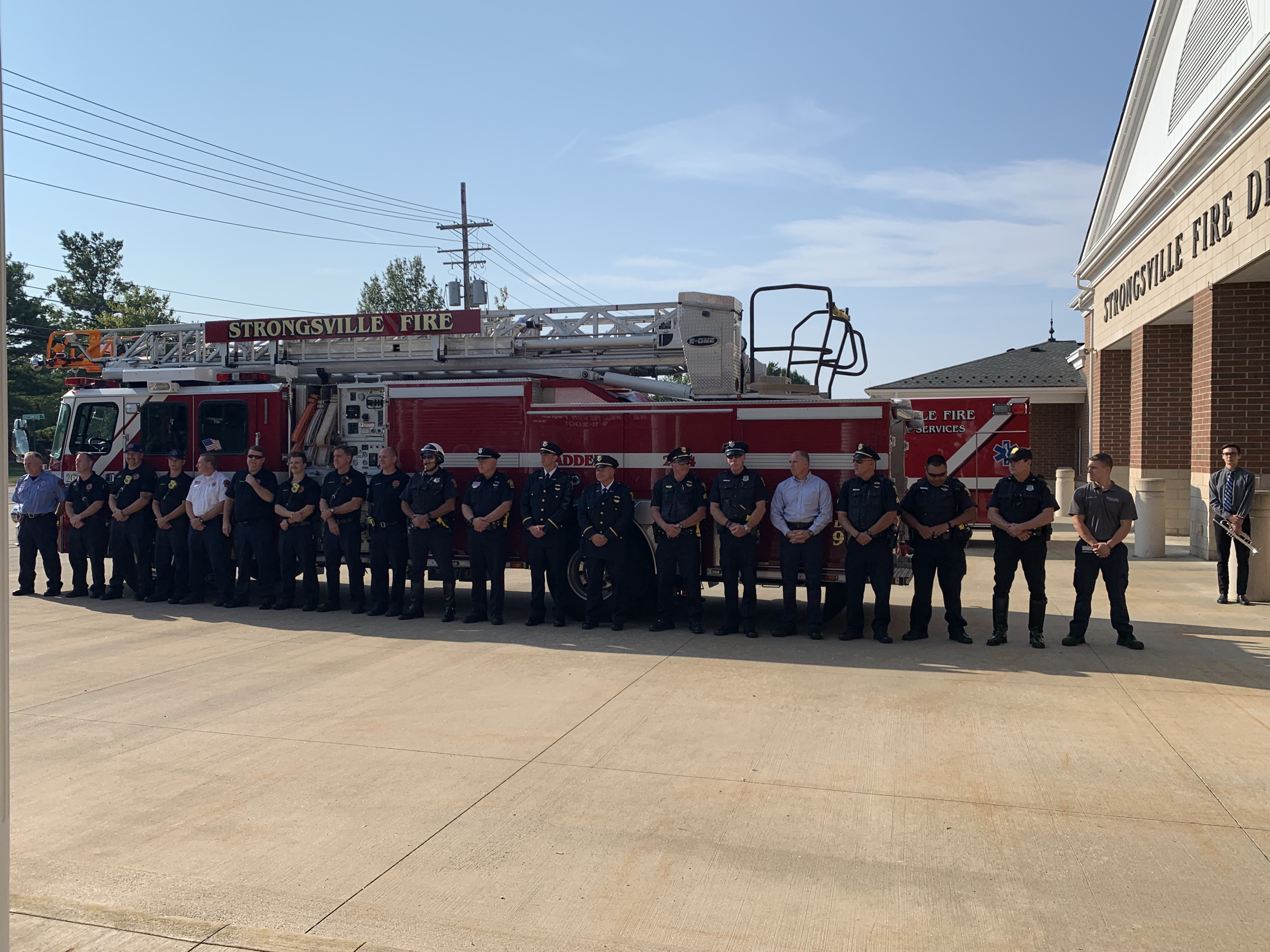 911 Ceremony at the Ward 4 Fire station